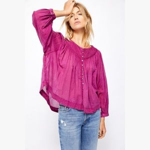 Free People We The Free Cool Meadow Boho Blouse